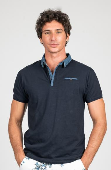 POLO POKER HOMME NAVY