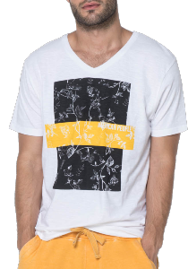 T-SHIRT HOMME MANIA YELLOW