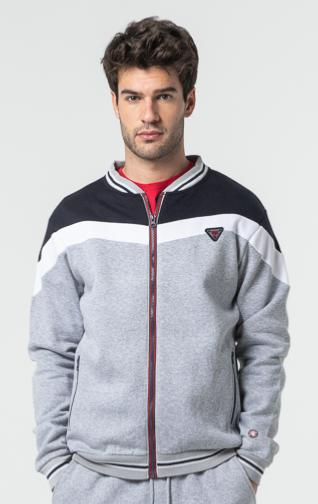 SWEAT SUAREZ HOMME GREY CHINE